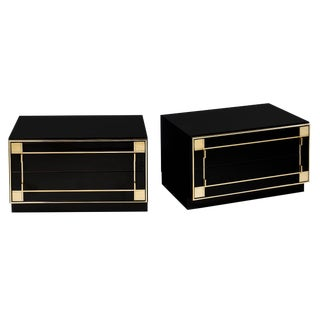 Pair of Mid-Century Modern French Lacquered Side Tables by Pierre Cardin