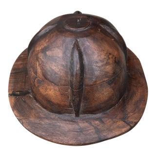 Carved Wood Hat Form