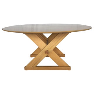 Paul Laszlo for Brown-Saltman Dining or Game Table With Copper Accents For Sale