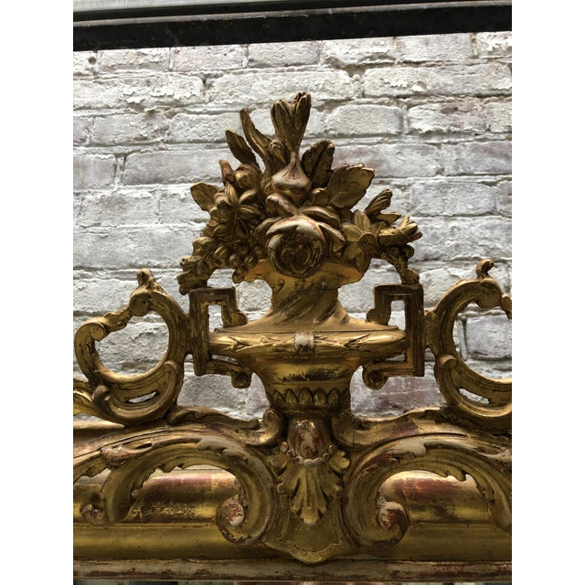 French 19th Century French Gilded Mirror For Sale - Image 3 of 12
