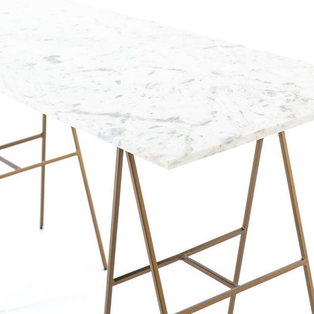 Metal Contemporary Erdos + Ko Emory Writing Desk For Sale - Image 7 of 8