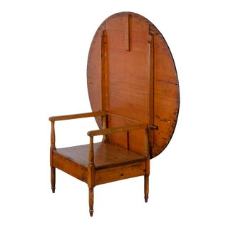 Hutch Chair Table, New England C.19th Century For Sale