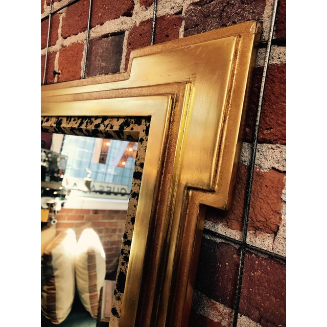 Deco Inspired 1980s Gold & Tiger Print Wall Mirror - Image 6 of 9