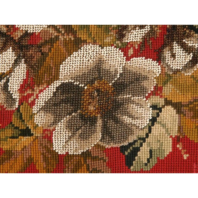 Circa 1900 Victorian English Beaded and Needlepoint Pillow For Sale In Chicago - Image 6 of 11