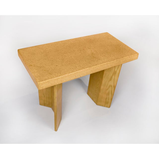 1950s 1950s Paul Frankl Bleached Oak & Cork Console Table for Johnson Furniture For Sale - Image 5 of 11