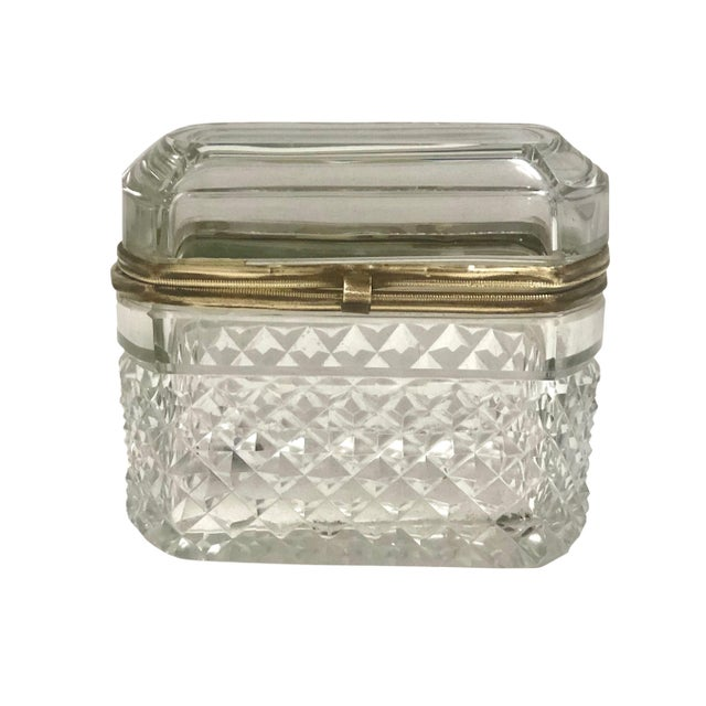 French Baccarat French Crystal Box For Sale - Image 3 of 6