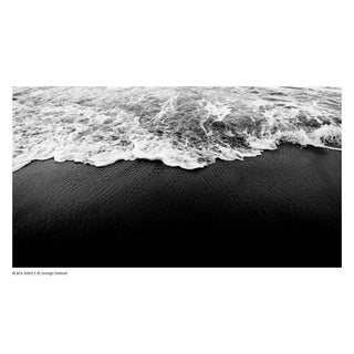 """""""Black Sand E"""" Contemporary Black and White Seascape Photograph by George Diebold For Sale"""