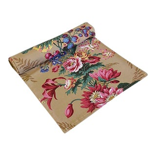 """Custom English Cottage Floral Table Runner 102"""" Long"""