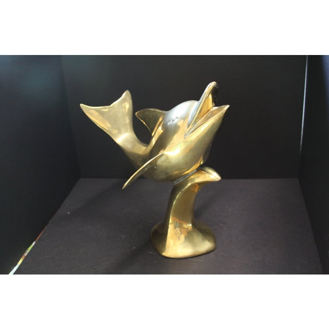 Large Brass Dolphin - Image 3 of 6