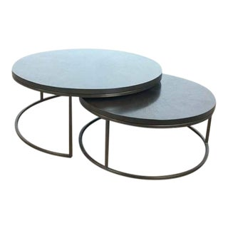 Mitchell Gold + Bob Williams Bassey Nesting Cocktail Tables - a Pair