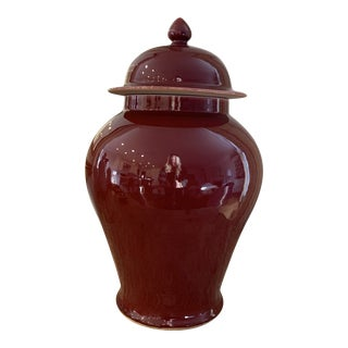 Ox Blood Chinese Ginger Jar For Sale