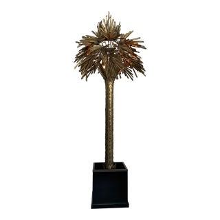 Maison Jansen Monumental Palm Tree Lamp Sculpture For Sale