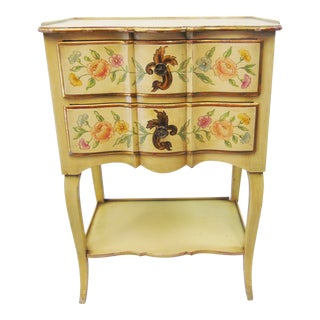 Mid 20th Century John Widdicomb Italian Style Painted Nightstand For Sale