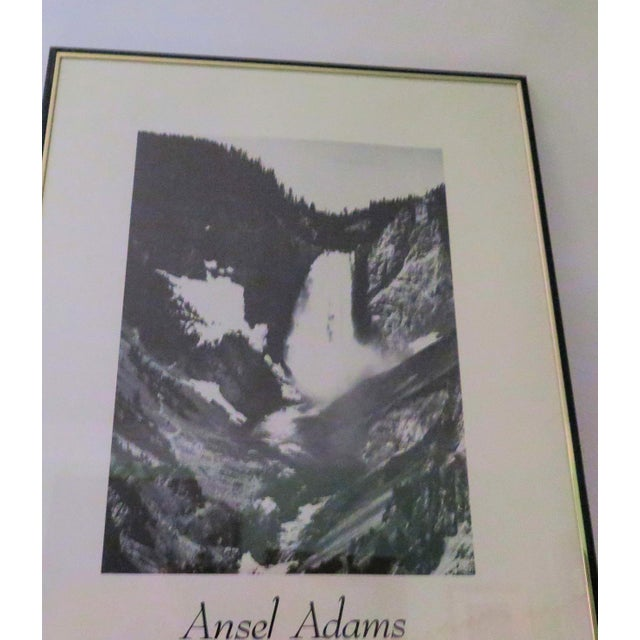 """Contemporary Vintage Ansel Adams """"Yellow Stone Falls"""" Poster For Sale - Image 3 of 4"""