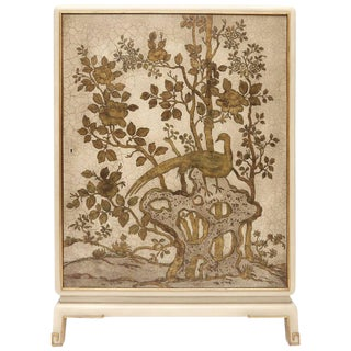Revolving Chinoiserie Bar Cabinet For Sale