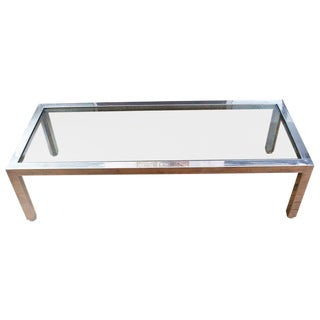 1960s Mid Century Modern Pace Chrome Coffee Table For Sale