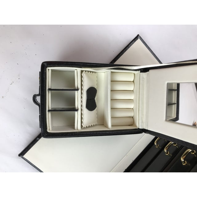 Black Leather Train Case For Sale - Image 4 of 13