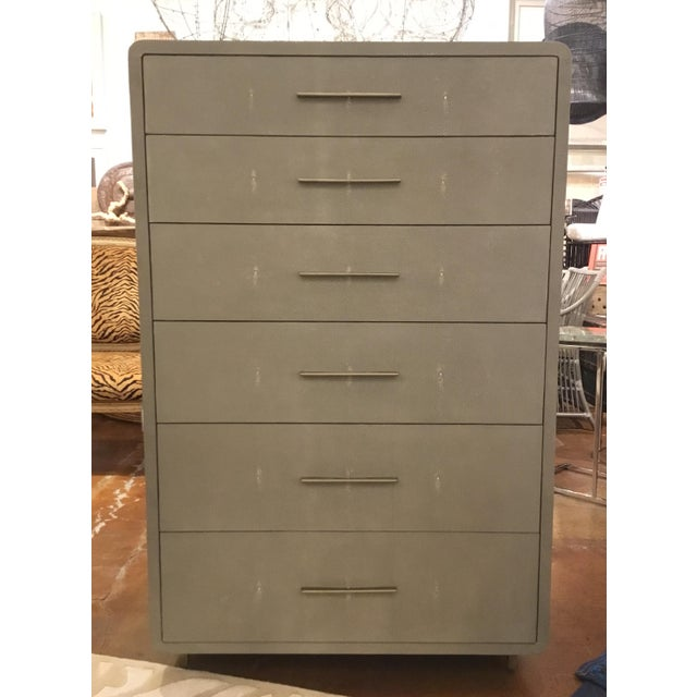 Interlude Home Calypso Gray Tall Chest For Sale - Image 9 of 9