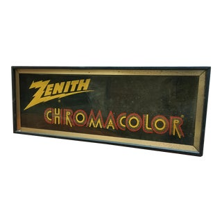 1960s Zenith Chromacolor Television Point of Sale Fibre Optic Animated Sign For Sale