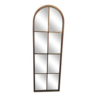 Rustic Bronze Arched Mirror For Sale