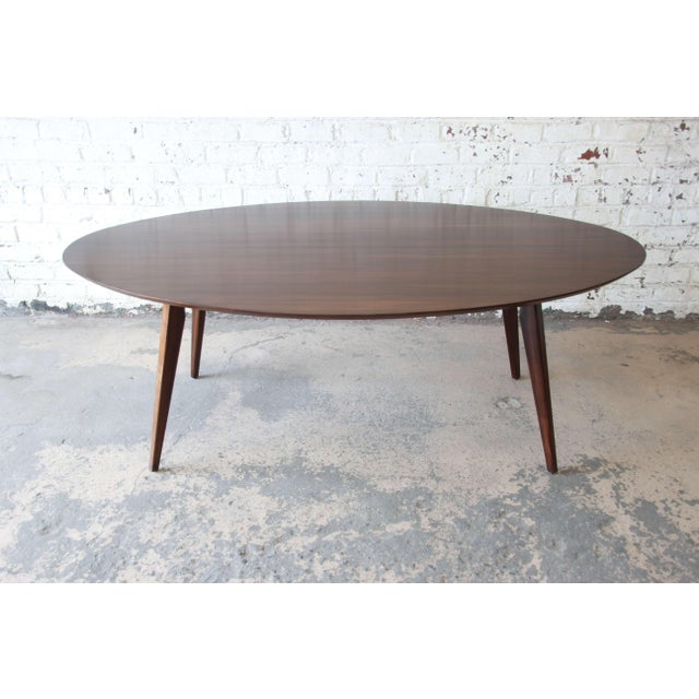 Knoll Walnut Eliptical Dining or Conference Table For Sale - Image 10 of 10