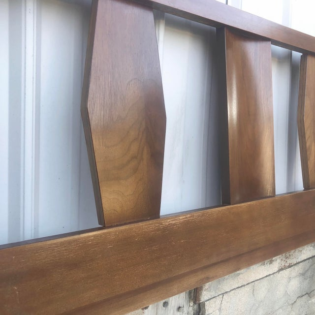 Mid-Century Twin Size Headboard For Sale In New York - Image 6 of 13