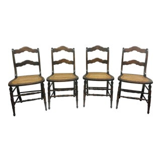 Late 20th Century Vintage Side Chairs- Set of 4 For Sale