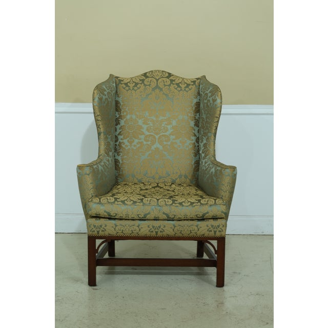 Kittinger Chippendale Mahogany Wing Back Chair For Sale - Image 13 of 13