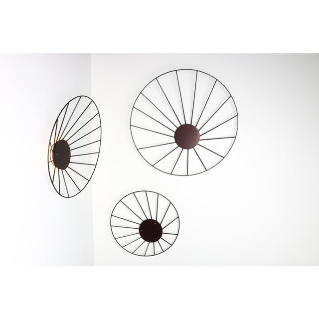Red Kalos Contemporary Steel Wall Sculpture Installation by Topher Gent For Sale - Image 8 of 8