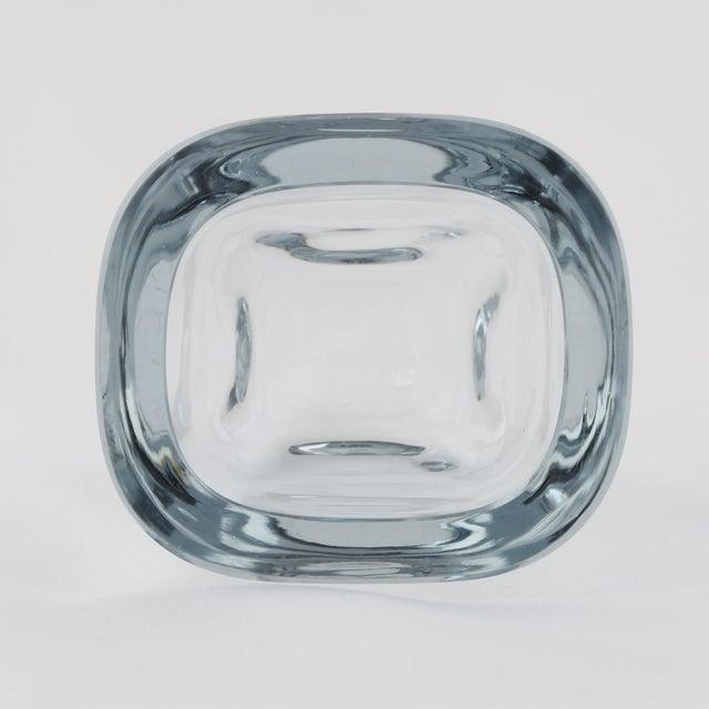 1950s 1950's VINTAGE STROMBERGSHYTTAN GLASS VASE For Sale - Image 5 of 7