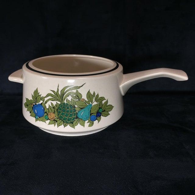 Fall Bounty Stoneware Open Fondue Pot For Sale - Image 10 of 10