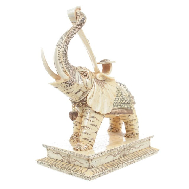 "16"" Chinese Elephant Figurine Sculpture - A Pair - Image 7 of 10"