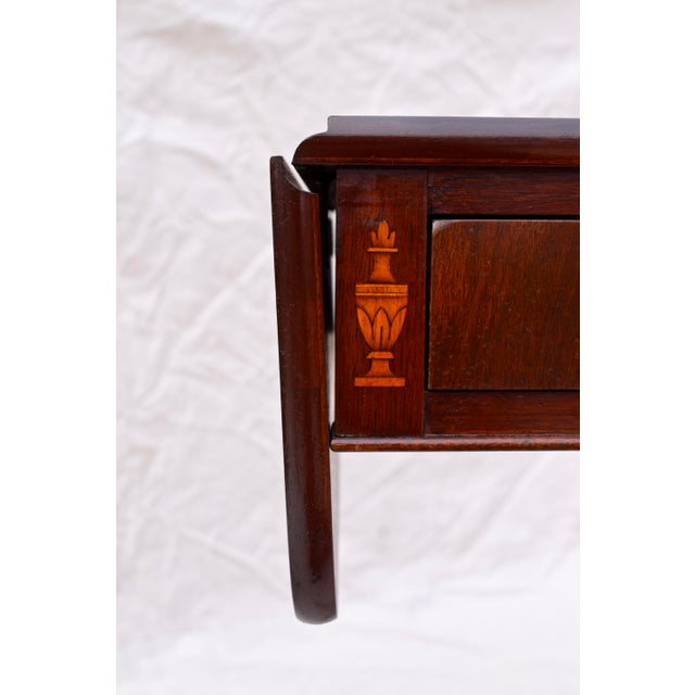 Mahogany Pembroke Tables With Inlay Detail, Pair For Sale - Image 9 of 13