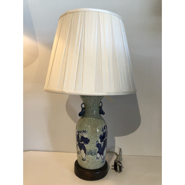 Chinese Export Blue and White Porcelain Vase Table Lamp For Sale In West Palm - Image 6 of 6