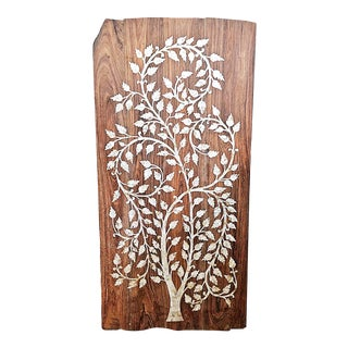 1980s Rosewood Panel 'Tree of Life' Mother of Pearl Inlay For Sale