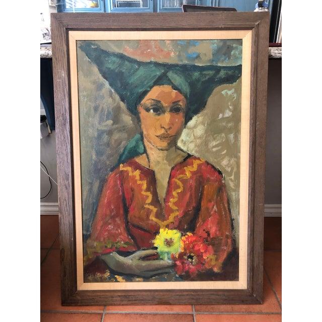 Vintage Painting Portrait by Joe Van Cleave For Sale - Image 12 of 12