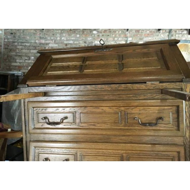 Vintage Roll Top Desk With Lock & Key - Image 7 of 7