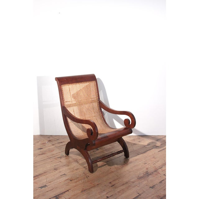 British Colonial Plantation Cane Chair - Image 7 of 8