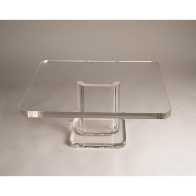 Lucite 1970s Vintage Lucite Cake Plate Holder/Stand For Sale - Image 7 of 9