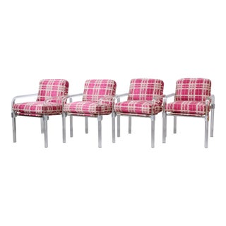 Jeff Messerschmidt Signed and Dated 1980 Pipeline Series II Lucite Chairs - Set of 4 For Sale