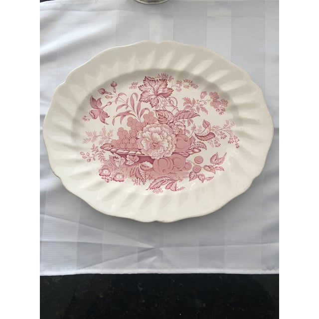 Pink Transfer-Ware English Platter - Image 2 of 5