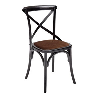 Nimes Chair in Black & Brown - a Pair For Sale