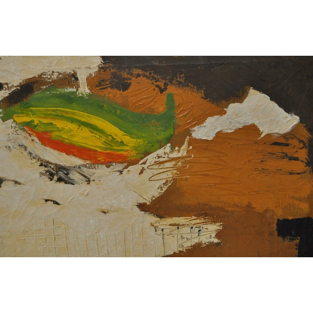 Carlo of Hollywood Vintage Abstract Painting 1960s - Image 6 of 7