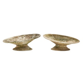 Willy Guhl Patinated Cement Jardinieres- A Pair