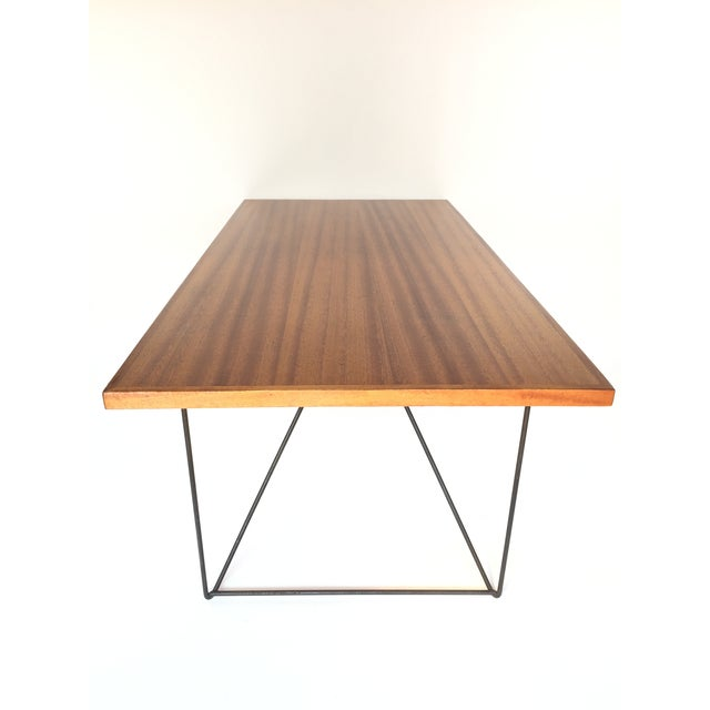 Mid-Century Modern Luther Conover Mahogany and Iron Table, 1950 For Sale - Image 3 of 11