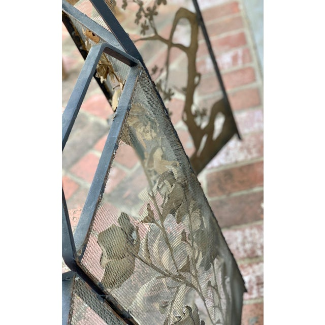 Victorian Floral Fireplace Screen For Sale In Los Angeles - Image 6 of 9