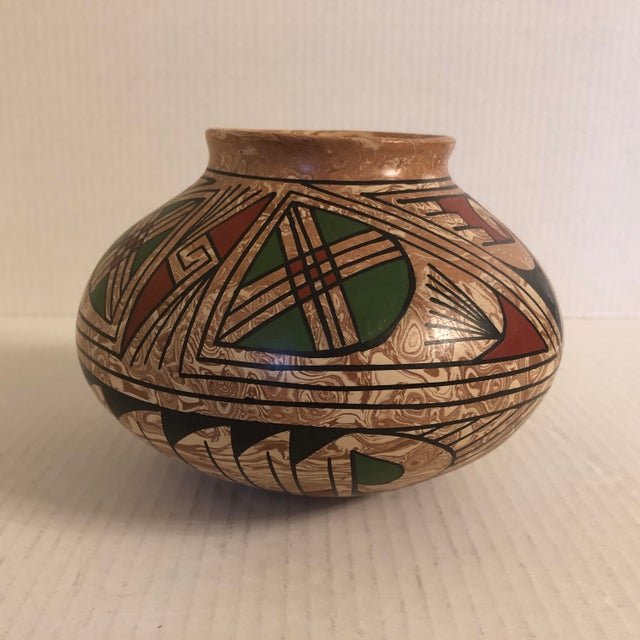 1990s Mata Ortiz Polychrome Pottery Jar For Sale - Image 9 of 9