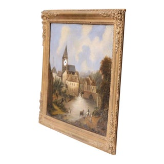 "French Working ""Clock Painting"" For Sale"