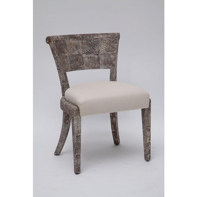 Belgian Fishskin Covered Chairs - a Pair For Sale - Image 3 of 10
