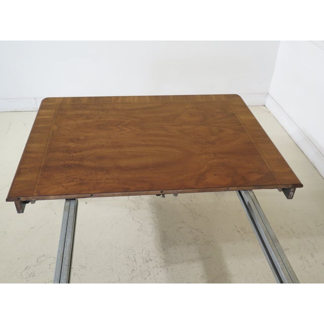 Brown 1980s Traditional Karges Ball & Claw Walnut Dining Room Table For Sale - Image 8 of 13